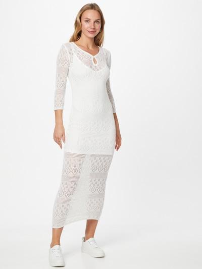 GUESS Robes en maille 'Alexandra' en blanc, Vue avec modèle