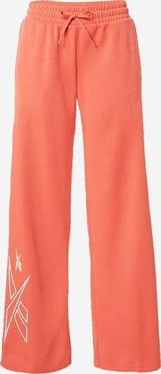 Pantaloni sportivi REEBOK di colore corallo / bianco, Visualizzazione prodotti