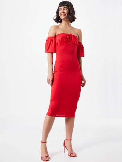 Missguided Kleid in hellrot, Modelansicht