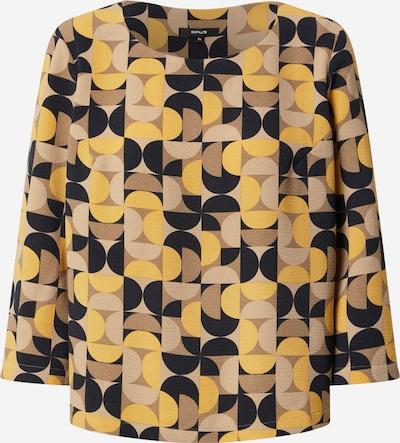 Bluză OPUS pe bej / bej închis / galben auriu / negru, Vizualizare produs