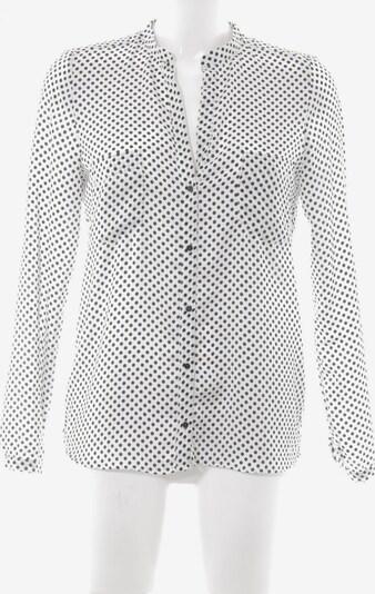 ZARA Langarm-Bluse in S in schwarz / weiß: Frontalansicht