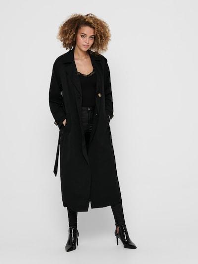ONLY Manteau mi-saison 'Line' en noir, Vue avec modèle