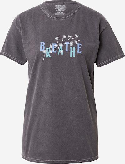 Daisy Street T-Krekls 'TYLER', krāsa - dūmu zils / debeszils / melns / balts, Preces skats