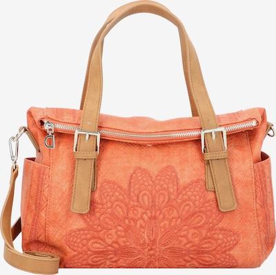 Desigual Handtas in de kleur Bruin / Sinaasappel, Productweergave