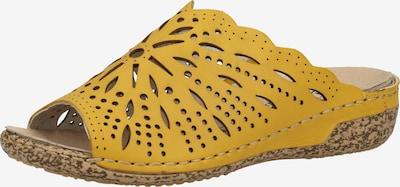 RIEKER Mule en jaune, Vue avec produit