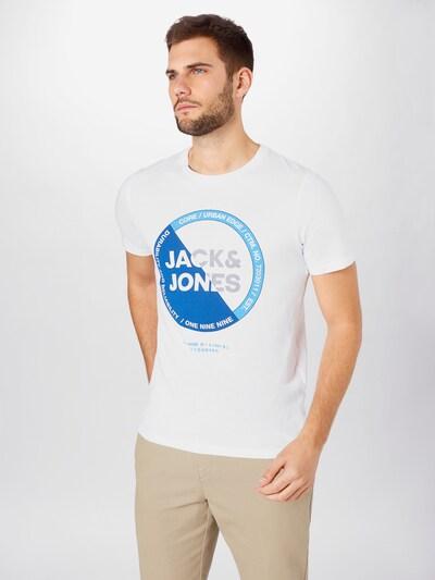 JACK & JONES Tričko - modrá / světlemodrá / bílá: Pohled zepředu