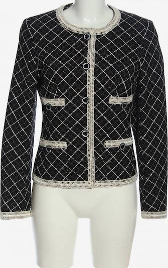 ǝe Elégance Woll-Blazer in S in creme / schwarz, Produktansicht