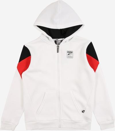 PUMA Sportsweatjacke 'Rebel' in rot / schwarz / weiß, Produktansicht