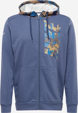 Bluză cu fermoar sport de la NIKE pe albastru