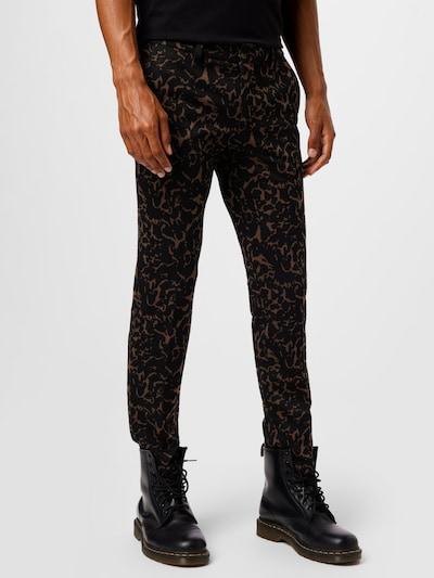 DRYKORN Chino nohavice 'SIGHT' - hnedá / čierna, Model/-ka