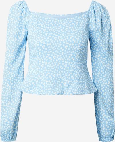 Daisy Street Blouse 'OLIVIA' in de kleur Lichtblauw / Wit, Productweergave