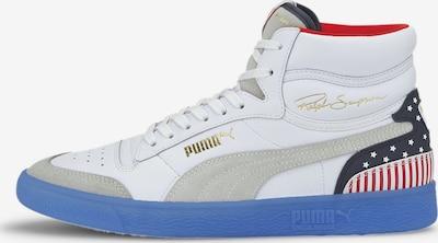 PUMA Baskets hautes en bleu / rouge cerise / blanc, Vue avec produit