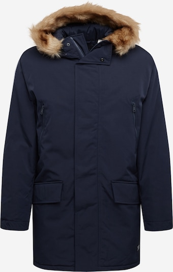 LEVI'S Winterparka 'Woodside' in de kleur Donkerblauw / Lichtbruin, Productweergave