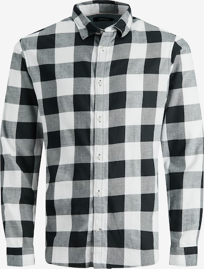 JACK & JONES Košeľa 'EGINGHAM' - čierna / biela, Produkt