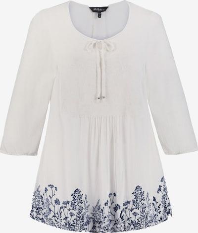 Ulla Popken Tunique en bleu foncé / blanc, Vue avec produit