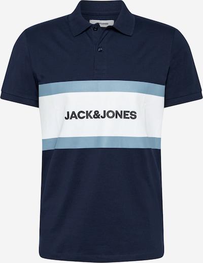 JACK & JONES Camiseta 'SHAKE' en azul claro / azul oscuro / blanco, Vista del producto
