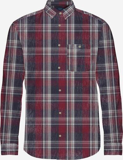 JACK & JONES Skjorta i marinblå / vinröd / vit, Produktvy