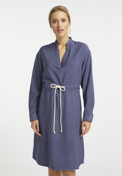 Rochie DreiMaster Vintage pe albastru porumbel, Vizualizare model