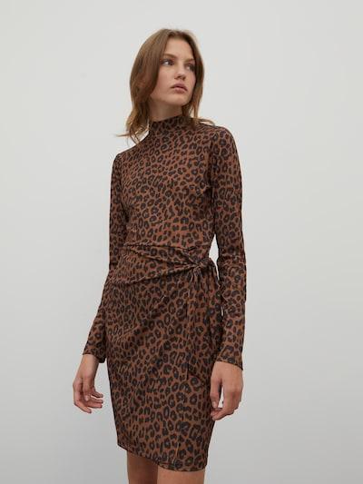 EDITED Kleid 'Karlotta' in braun, Modelansicht