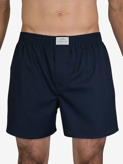 Lakeford & Sons Boxershorts ' 3-Pack 'Uni Dyed' ' in de kleur Navy, Modelweergave