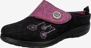 FLY FLOT Slippers in Black