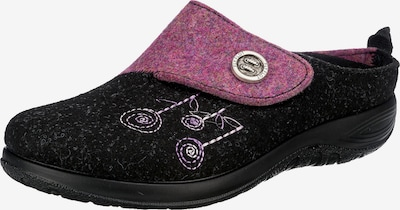 FLY FLOT Slippers in Pink / Black, Item view