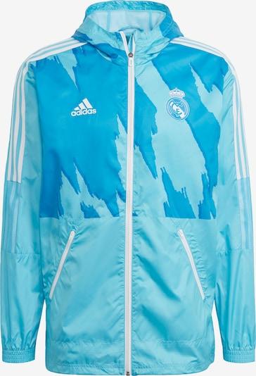 ADIDAS PERFORMANCE Windbreaker 'Real Madrid' in türkis / cyanblau / weiß, Produktansicht
