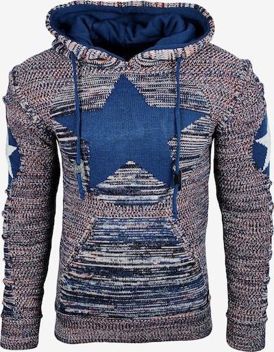 Rusty Neal Kapuzenpullover in indigo / grau, Produktansicht