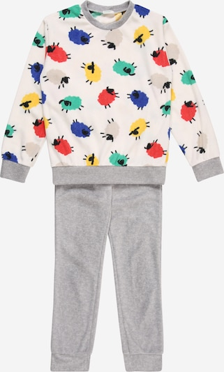 UNITED COLORS OF BENETTON Pyjama in grau / mischfarben / weiß, Produktansicht