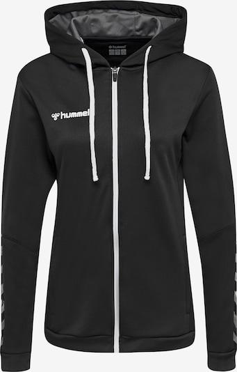 Hummel Sportief sweatvest in de kleur Zwart / Wit, Productweergave