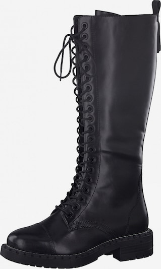 TAMARIS Lace-Up Boots in Black: Frontal view