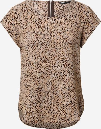 ONLY Bluse 'VIC' in beige / hellbeige / dunkelbraun, Produktansicht