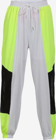 myMo ATHLSR Sportbroek in de kleur Neongeel / Zwart / Wit, Productweergave