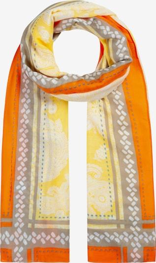 CODELLO Masque en tissu 'SAFARI' en bleu-gris / jaune / gris / orange / blanc, Vue avec produit