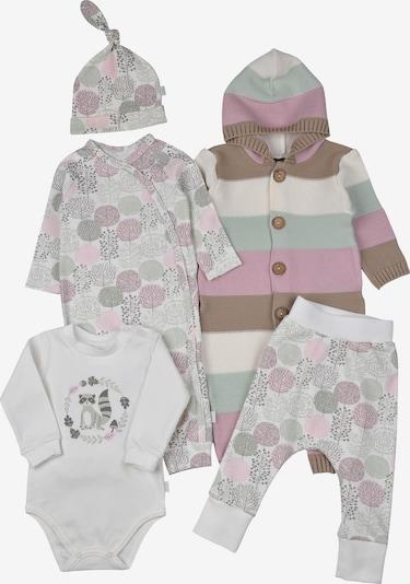 LEO Erstausstattungsset Baby Set Raccoony (5-Pack) in mischfarben / weiß, Produktansicht