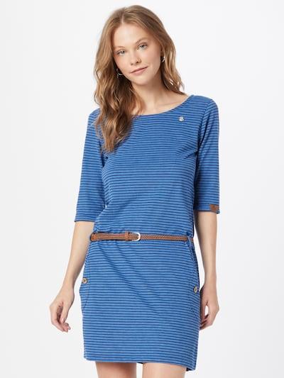 Ragwear Kleid 'TANYA' in marine / taubenblau / karamell, Modelansicht