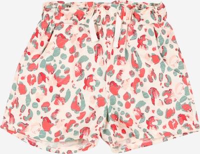 Pantaloni KANZ pe crem / verde pastel / portocaliu pastel / roșu deschis, Vizualizare produs