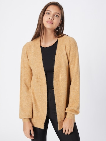 VERO MODA Knit Cardigan 'LEFILE' in Brown