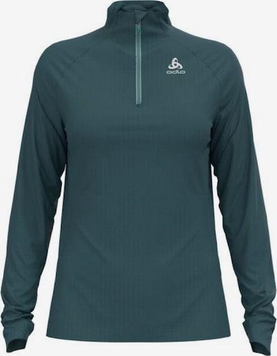 ODLO Sportsweatshirt in dunkelgrün / weiß, Produktansicht