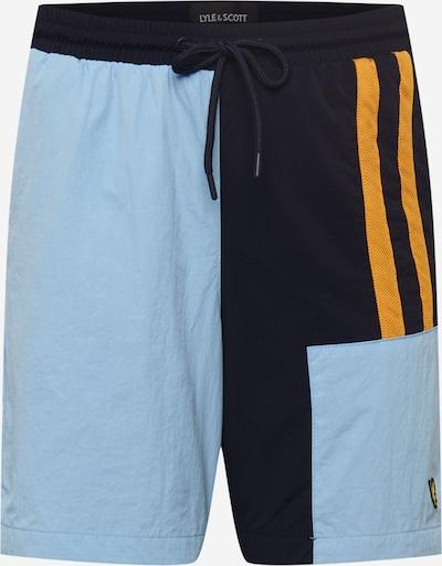 Lyle & Scott Nohavice - svetlomodrá / oranžová / čierna, Produkt