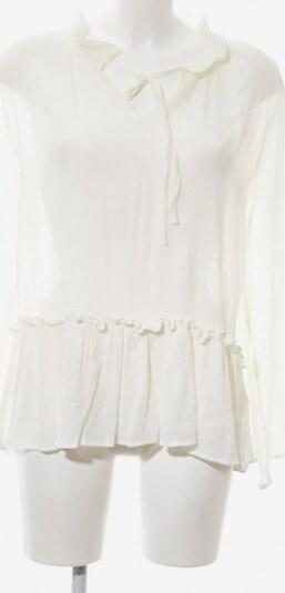 lykkelig Transparenz-Bluse in M in wollweiß, Produktansicht