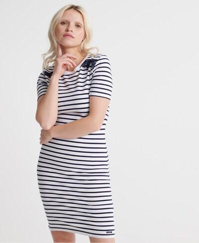Superdry Kleid in dunkelblau / weiß, Modelansicht