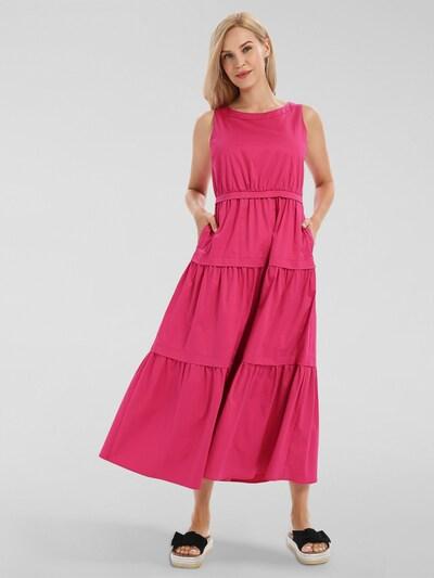 APART Sommerkleid aus Baumwoll Satin in pink, Modelansicht