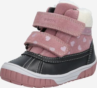 GEOX Snowboots 'Omar' in pastelllila / rosé / schwarz / offwhite, Produktansicht
