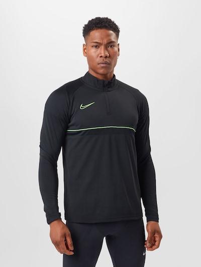 NIKE Sports sweatshirt 'Academy' in Green / Black: Frontal view
