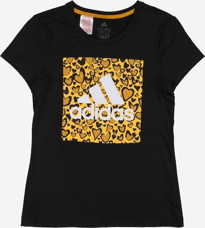 ADIDAS PERFORMANCE Shirt in gelb / schwarz / weiß, Produktansicht