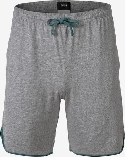 BOSS Casual Pantalon en gris chiné / vert foncé, Vue avec produit