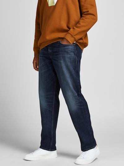 Jack & Jones Plus Jeans 'Mike' in blue denim, Modelansicht