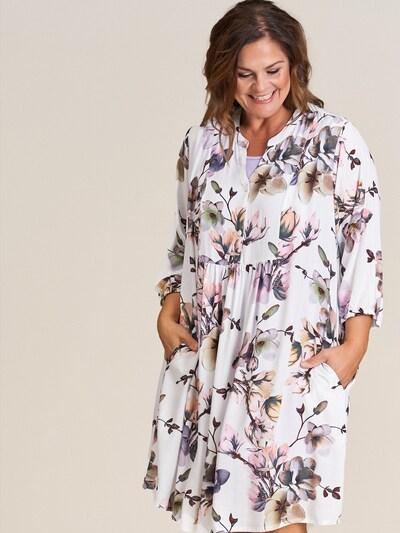 GOZZIP Kleid 'Elly' in mischfarben / weiß, Modelansicht