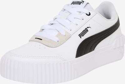 PUMA Låg sneaker 'Carina Lift' i beige / svart / vit, Produktvy